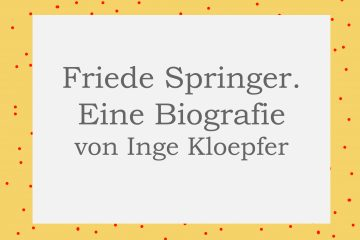 Friede Springer von Inge Kloepfer - kultur4all.de