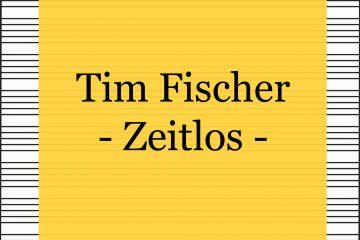 Tim Fischer - Zeitlos - kultur4all.de